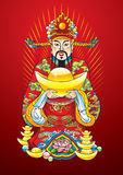 Chinese New year god of wealth royalty free illustration