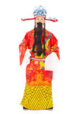 Chinese New Year! god of wealth share riches and prosperity Royalty Free Stock Photo