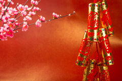Chinese new year golden firework decoration Royalty Free Stock Photos