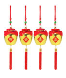 Chinese New Year Golden Pots Ornaments Royalty Free Stock Photography