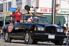 Chinese New Year Grand Marshall Mickey Mouse. Los Angeles Chinatown, Feb 9th, 2008: Honorary Grand Marshall Mickey Mouse in the Chinese New Year parade Royalty Free Stock Images