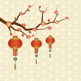 Chinese new year greeting background Royalty Free Stock Images