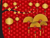 Chinese new year greeting background. Vector illustration vector illustration