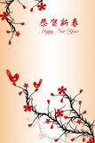 Chinese New Year greeting card. Beautiful background of Chinese New Year greeting card Stock Images