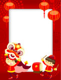 Chinese New Year Greeting Card. Illustration And Background For Chinese New Year Theme royalty free illustration