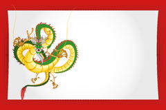 Chinese New Year Greeting Card Dragon. An Illustration Of Chinese New Year Greeting Card Royalty Free Stock Images
