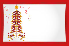 Chinese New Year Greeting Card Fireworks. An Illustration Of Chinese New Year Greeting Card Royalty Free Stock Image