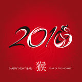 Chinese new year greeting card with monkey Royalty Free Stock Image