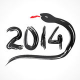 Chinese new year greeting,2014. Vector illustration Royalty Free Stock Photo