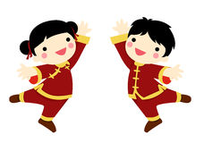 Chinese New Year Greetings- Children Royalty Free Stock Image