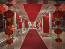 Chinese new year hall. In to a mall Stock Photo