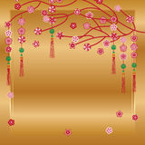 Chinese New Year hang flower modern Stock Photography