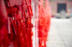 Spring Festival with red sign of blessings. Chinese new year, historic building with red sign of blessings stock photography