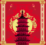 Chinese New Year Horse,abstract Christmas card Stock Images