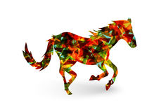 Chinese new year of the Horse abstract triangle EPS10 file. Royalty Free Stock Photos