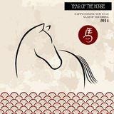 Chinese new year of the Horse brush style vector file. 2014 Chinese New Year of the Horse brush style illustration over grunge background. Vector file organized royalty free illustration