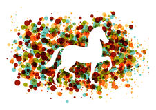 Chinese new year of the Horse bubbles EPS10 file. 2014 Chinese New Year of the Horse silhouette circle bubbles illustration. EPS10 vector file with transparency Stock Image