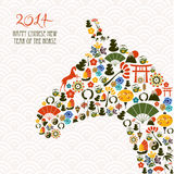 Chinese new year of the Horse composition vector file. Royalty Free Stock Image