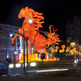 Chinese New Year with horse-themed decorations. In Singapore Royalty Free Stock Images