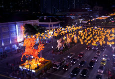 Chinese New Year with horse-themed decorations. In Singapore Royalty Free Stock Photo