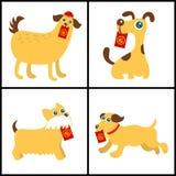 Chinese new year icon. celebrate year of dog. This is chinese new year icon design Royalty Free Stock Photo