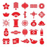 Chinese new year icon seamless pattern element vector background Chinese Translation: Happy chinese new year. Happy chinese new year icon seamless pattern Stock Image