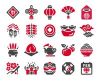 Chinese new year icon set. Happy chinese new year icon set,vector and illustration