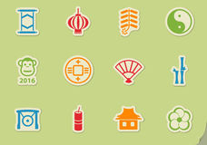 Chinese new year. Icon set ,  icons Royalty Free Stock Images