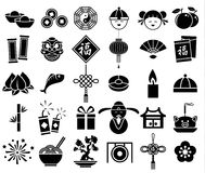 Chinese new year icon. Sign symbol set Stock Photography