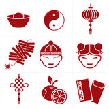 Chinese new year icon. For web or print Royalty Free Stock Photos