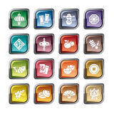 Chinese New Year Icons Stock Images