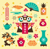 Chinese new year icons Royalty Free Stock Photo
