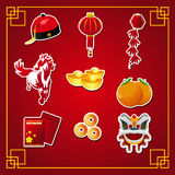 Chinese New Year icons vector illustration