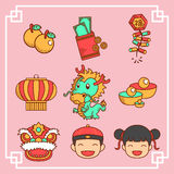Chinese New Year icons Stock Image