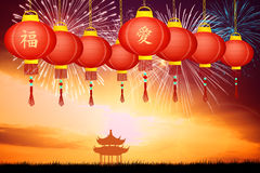 Chinese New Year. Illustration of Chinese New Year Royalty Free Stock Images