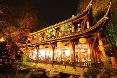 Chinese new year in Jinli old street Royalty Free Stock Image