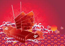 Chinese New Year Junk Royalty Free Stock Image