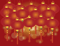 Chinese New Year Lantern Background Stock Image