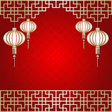 Chinese New Year Lantern Background Royalty Free Stock Photo