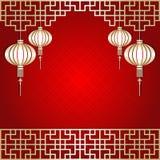 Chinese New Year Lantern Background Royalty Free Stock Photo