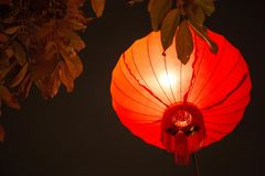 Chinese new year lantern in china town royalty free stock photo