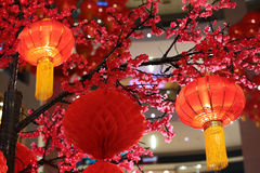 Chinese new year lantern decorations Royalty Free Stock Photography