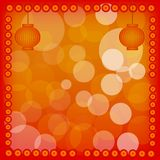 Chinese New Year Lantern on Red Abstract Backgroun Stock Photos