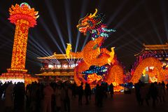 2019 Chinese new year in Xian royalty free stock image