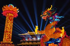 2019 Chinese new year in Xian royalty free stock photography