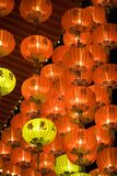 Chinese New Year Lanterns. Night image of Chinese New Year lanterns at a temple