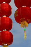Chinese New Year Lanterns. Bright red Chinese New Year lanterns, symbolizing good fortune and prosperity in the coming new year Royalty Free Stock Photo