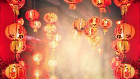 Chinese new year lanterns in china town. Area royalty free stock image
