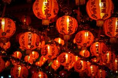 Chinese new year lanterns in china town stock photography