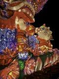 Chinese New year lanterns, illuminated night China Asia guangzhou public royalty free stock photos